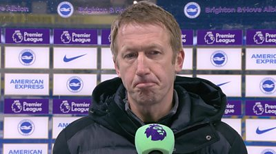 Brighton 1-2 Leicester: Graham Potter feeling 'sore' after late Foxes winner