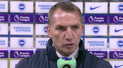 Brighton 1-2 Leicester: Brendan Rodgers says Foxes were 'outstanding' in second half