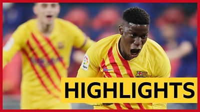 Osasuna 0-2 Barcelona: Teenager Moriba scores lovely winner as Barcelona close gap at top
