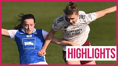 WSL highlights: Vivianne Miedema stars as Arsenal thrash Birmingham 4-0