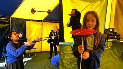 Circus skills on school return