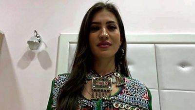 Ayeda Shadab, social media influencer in Afghanistan
