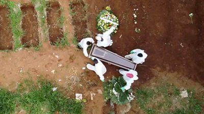 Mass grave for Covid-19 victims in Brazil