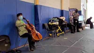 Yo-Yo Ma playing the cello