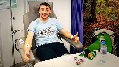 George Hatfield receiving cancer treatment