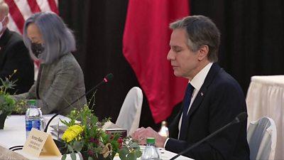 Secretary of State Antony Blinken making opening remarks