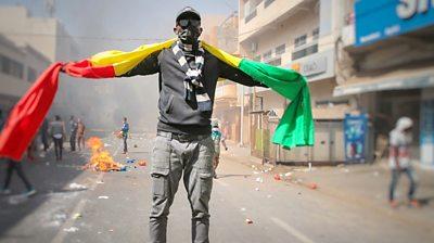 Protester in Senegal