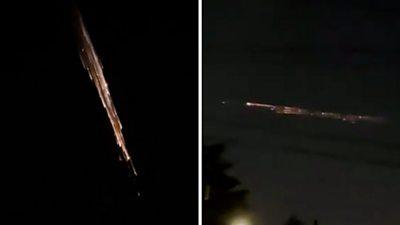 SpaceX rocket breaks up in atmosphere