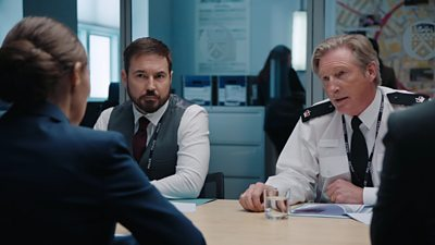 The stars of BBC One's Line of Duty have taken time out from their duties tackling police corruption to help a Belfast football club.