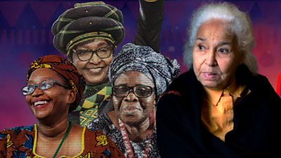 A composite image of African feminists