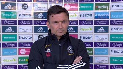 """Sheffield United interim manager Paul Heckingbottom says the squad """"have to look forward"""" as the Blades suffer league defeat against Yorkshire rivals Leeds United."""