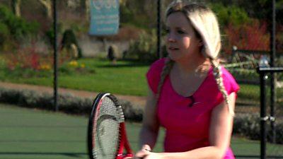 Jen Copestake playing tennis