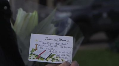 Card with tribute to Prince Philip