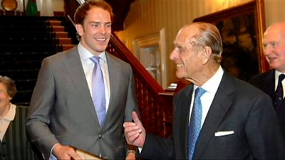 Prince Philip with Alun Wyn Jones