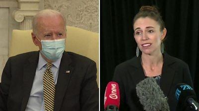 Joe Biden and Jacinda Ardern