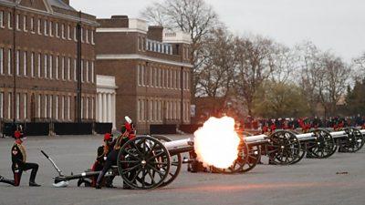 Gun salute, Woolwich Barracks