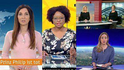 Screenshot of broadcasters