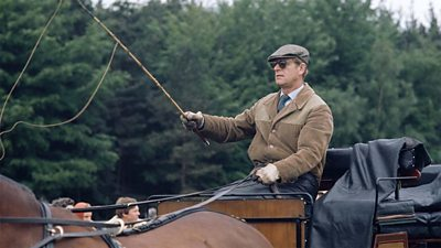 The duke on a carriage