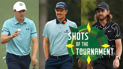 Jordan Spieth, Justin Rose and Tommy Fleetwood