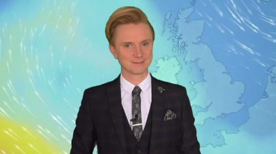 BBC Weather presenter, Owain Wyn Evans
