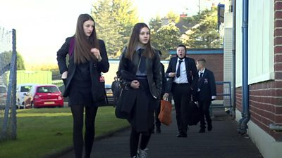 All pupils in Northern Ireland returned to school on Monday.