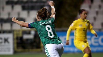 Marissa Callaghan celebrates