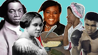 Collage of key black history figures