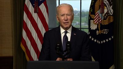 President Biden announces the withdrawal of all US troops by 11 September.
