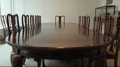 Why was Prince Philip born on this dining table?