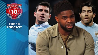 Sergio Aguero, Micah Richards and Carlos Tevez