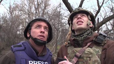 On the front line in eastern Ukraine