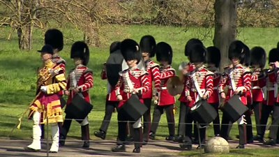 Members of the armed forces take part in Prince Philip's funeral