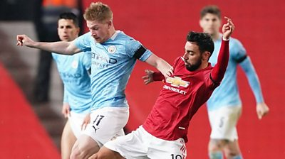 De Bruyne and Fernandes tackle