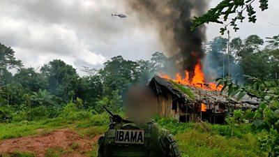 Brazil: Environment police battle for Amazon rainforest thumbnail