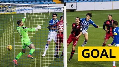 Zeno Ibsen Rossi equalises for Kilmarnock in the Scottish Cup against St Mirren