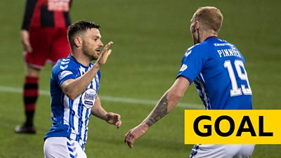 Greg Kiltie gives Kilmarnock a 2-1 in the Scottish Cup against St Mirren
