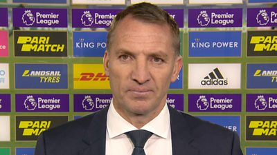 Leicester 2-1 Crystal Palace: Kelechi Iheanacho's goal was incredible says Brendan Rodgers thumbnail