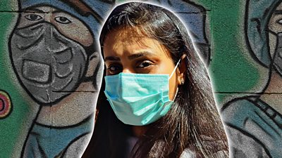Mansi and Anamika live thousands of miles away from family, during India's battle with coronavirus.
