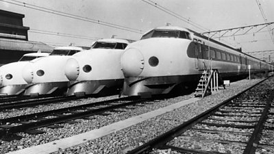 Driving Japan's first bullet trains