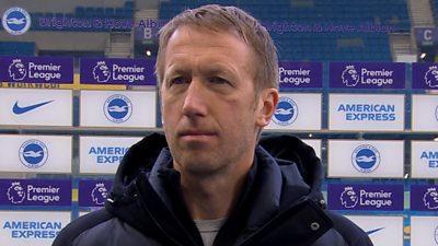 Brighton & Hove Albion 2-0 Leeds United: Graham Potter praises Seagulls