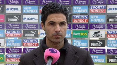 """Arsenal manager Mikel Arteta says strong performances """"individually and collectively"""" contributed to their 2-0 win over Newcastle in the Premier League."""