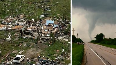 Hail, tornadoes and flash floods wreak havoc in US