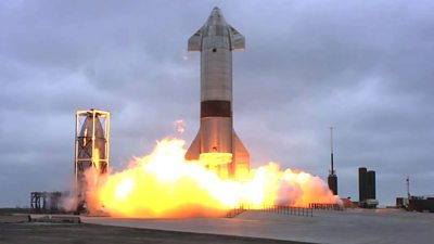 SpaceX Starship rocket prototype launches