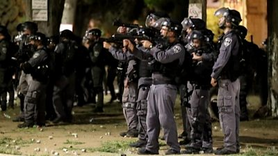 Riot police in Israel