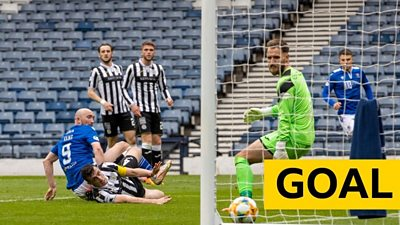 Chris Kane scores the first of a quickfire double for St Johnstone against St Mirren.