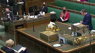 Front benches in Queen's Speech debate