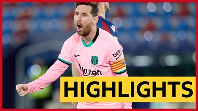 La Liga: Lionel Messi scores volley as Levante hold Barcelona in six-goal thriller