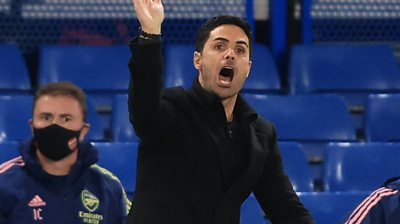 Arsenal manager Mikel Arteta praises his side's attitude and commitment in their performance after they beat rivals Chelsea 1-0 in the Premier League.
