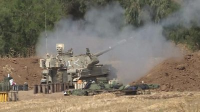 Tank on Gaza border