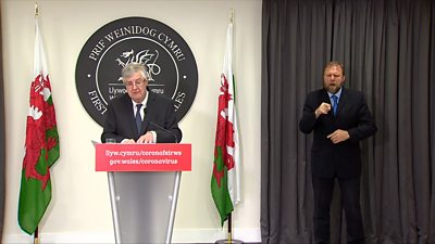 First Minister Mark Drakeford delivers an update on Covid in Wales, 14 May, 2021